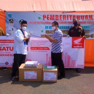 Peduli Covid-19, Komunitas Honda Banten Berbagi APD Ke Team Medis